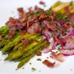 Asparagus With Sherry and Bacon Vinaigrette Recipe