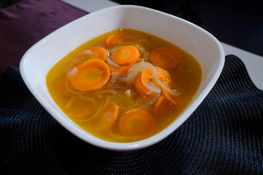 Warm Carrot and Onion Soup Recipe