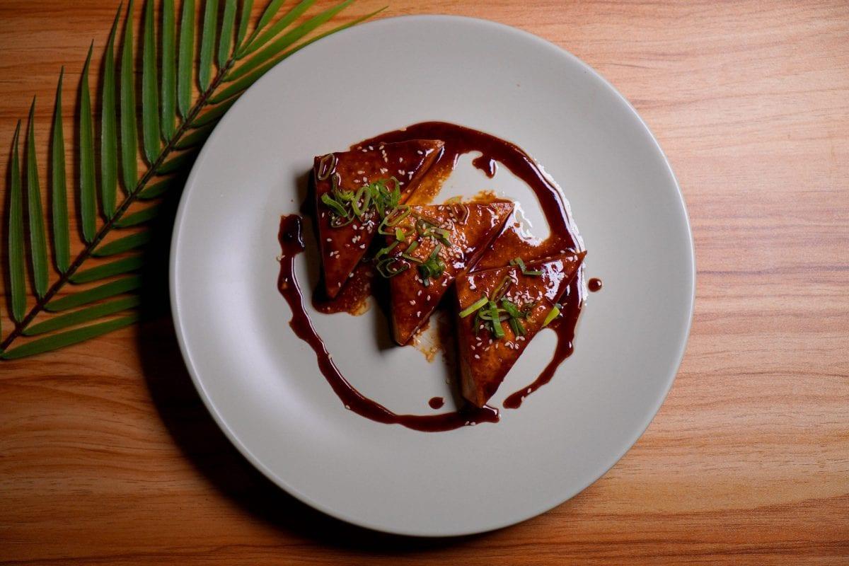 Vegan Teriyaki Tofu Triangles Recipe