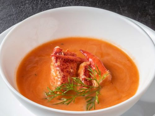 Creamy Crockpot Lobster Bisque Recipe - Creamy seafood bisque with lobster tails