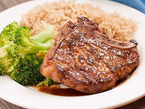 bbq pork chops with rice