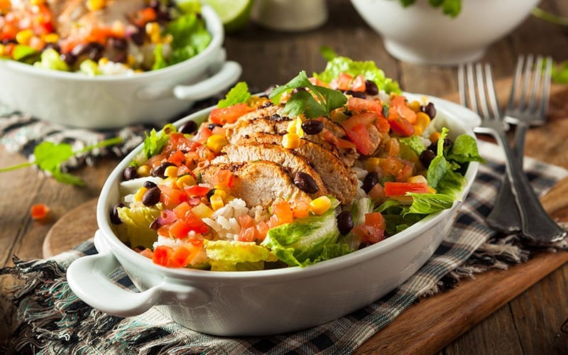 chicken-blt-salad-with-fried-avocados-recipe-sweettreatsmore.com title ...