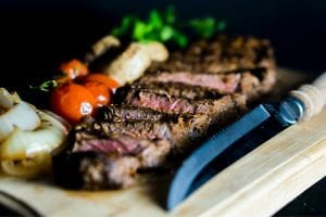 Blackened Rib Eye Steak With Creamy Horseradish Sauce Recipe