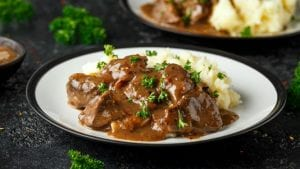 Chicken Livers in Gravy Recipe