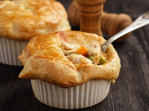 KFC Chicken Pot Pie Recipe (Copycat) - Easy and healthy puff pastry mini chicken pot pies