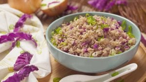 Chinese Red Cabbage Fried Rice Recipe