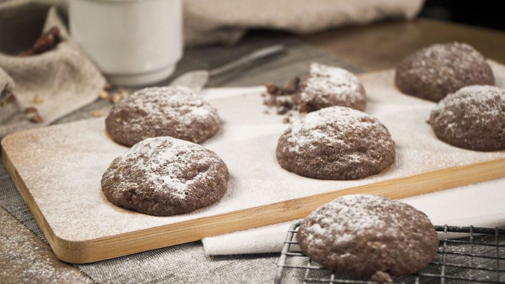 Soft Mocha Nut Christmas Cookies Recipe