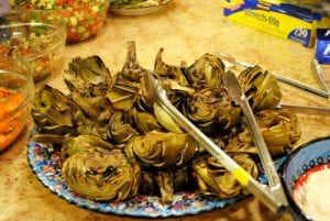 Copycat Cheesecake Factory Fire-Roasted Fresh Artichokes Recipe