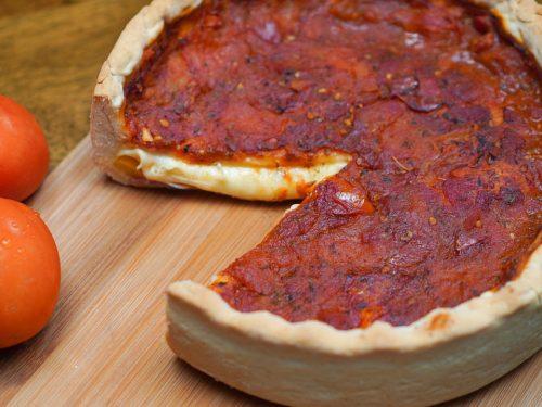 Copycat Giordano's Deep Dish Pizza Recipe Chicago-style pizza