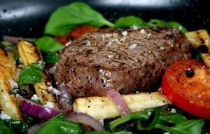 Copycat Outback Steakhouse Steak with Delightful Grilled Vegetables Recipe