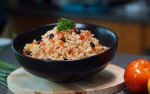 delicious black beans and rice