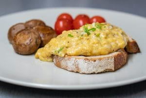 Easy Cheesy Scrambled Eggs Recipe