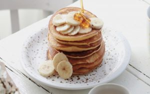 Eggless Banana Pancakes Recipe