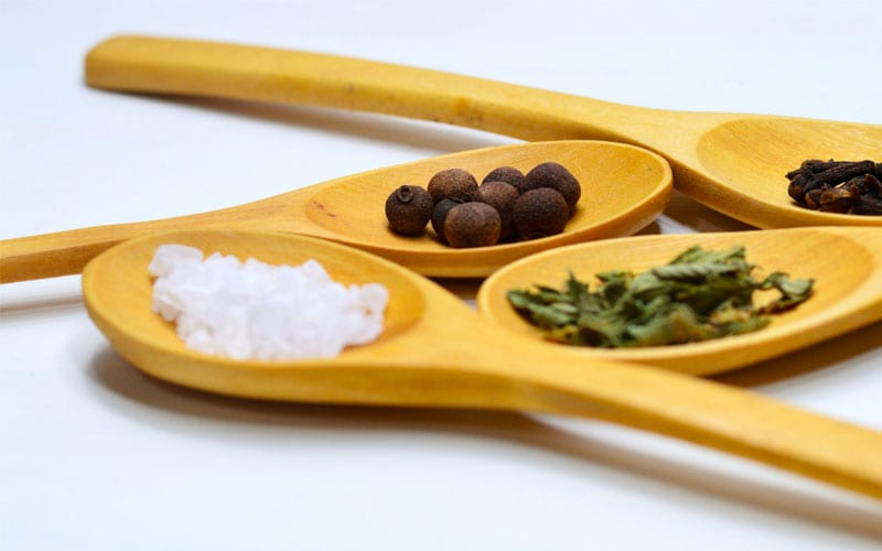 Spices on Wooden Spoons, Food Additives