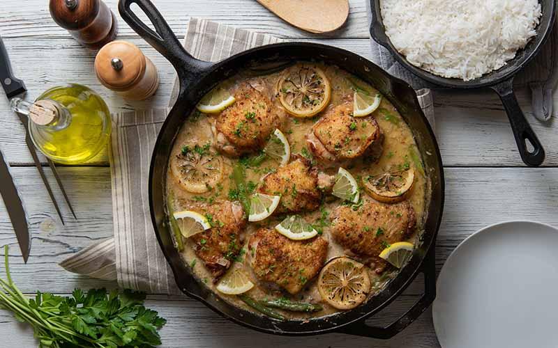 Homestyle Lemon Chicken and Rice Recipe