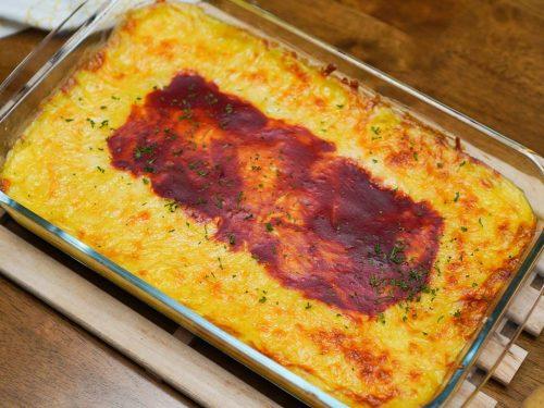 Mashed Potato Casserole Recipe, easy loaded cheesy mashed potatoes with rice casserole, make ahead potato casserole