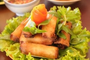 Mini-Vegetable Lumpia with Garlic Vinegar Dip Recipe
