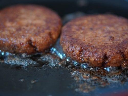 Mushroom Smothered Beef Burgers