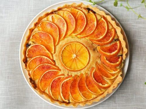 creamy orange cheesecake pie