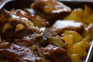 Pork Steak with Seasoned Potatoes Recipe