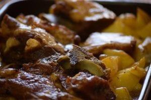 Pork Steak with Seasoned Potatoes Recipe