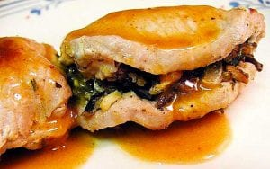 Pressure Cooker Stuffed Pork Chops Recipe