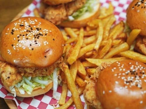 quick copycat McDonald's chicken burger recipe