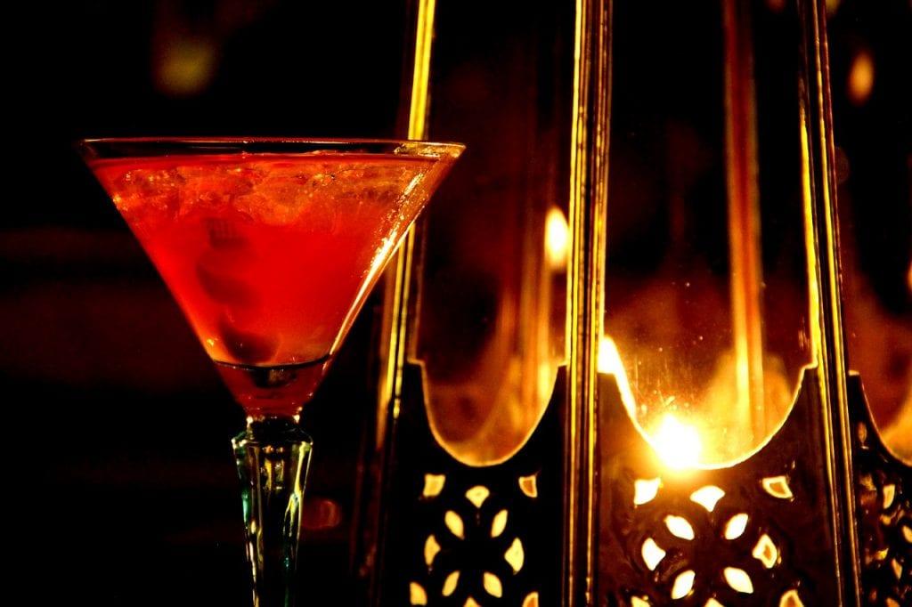 cold red apple martini
