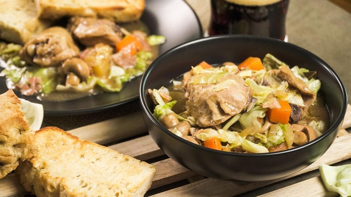 Rustic Irish Chicken and Cabbage Stew Recipe - chicken thighs in vegetable soup crockpot recipe