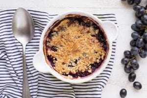 Apple Grape Crumble Recipe