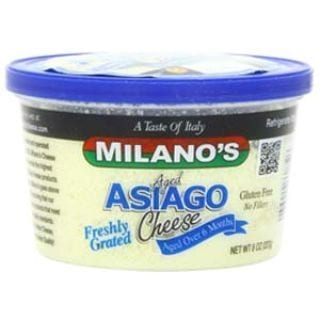 Milano's Asiago Cheese Deli Cup, Grated
