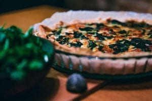 Bacon Blue Cheese Spinach Quiche Recipe