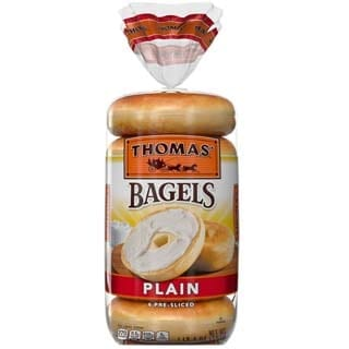 Thomas' Plain Soft & Chewy Pre-Sliced Bagels