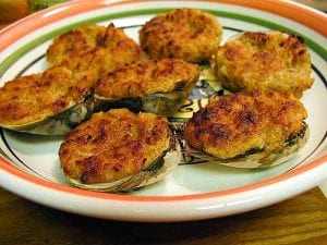 Fresh Baked Stuffed Clams Recipe