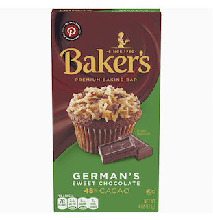 Baker's, Premium German's Sweet Chocolate Baking Bar