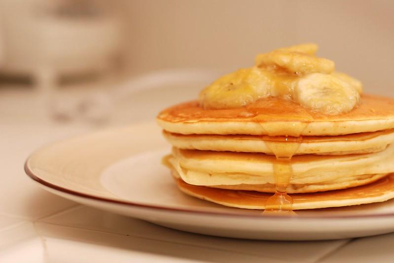 Copycat Denny's Caramel Banana Pancakes Recipe
