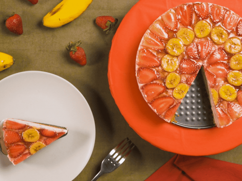Banana Strawberry Cheesecake Recipe
