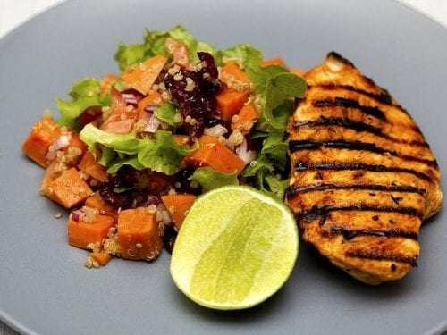 grilled chicken with side dish
