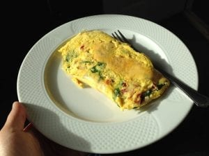 Smashed Avocado & Egg White Omelet(2)- healthy & delicious breakfast via sweettreatsmore.com