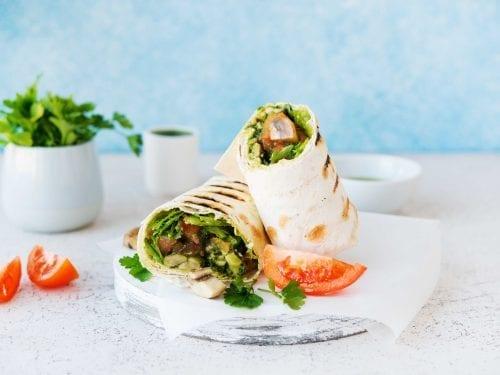 vegetarian burrito wraps