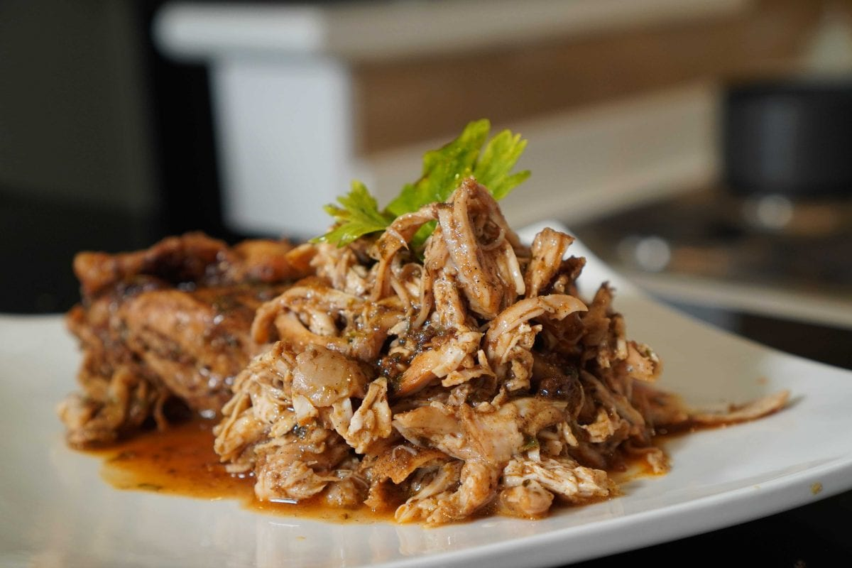 Black Pepper Shredded Chicken Recipe