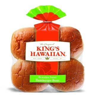 King's Hawaiian Sweet Hamburger Buns