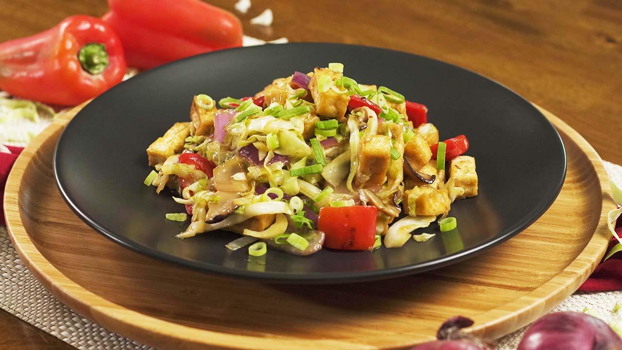 Cabbage and Tofu Stir Fry Recipe