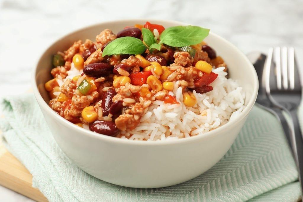 Cajun Corn, Rice, and Red Beans Recipe