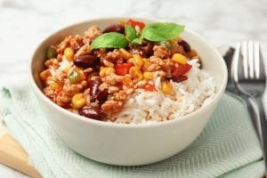 Cajun Corn, Rice, and Red Beans Recipe