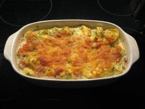 Cheesy Garlic Cauliflower Casserole Recipe