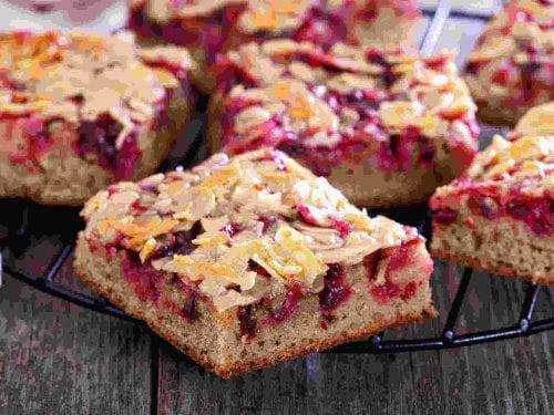 crispy cherry almond bars