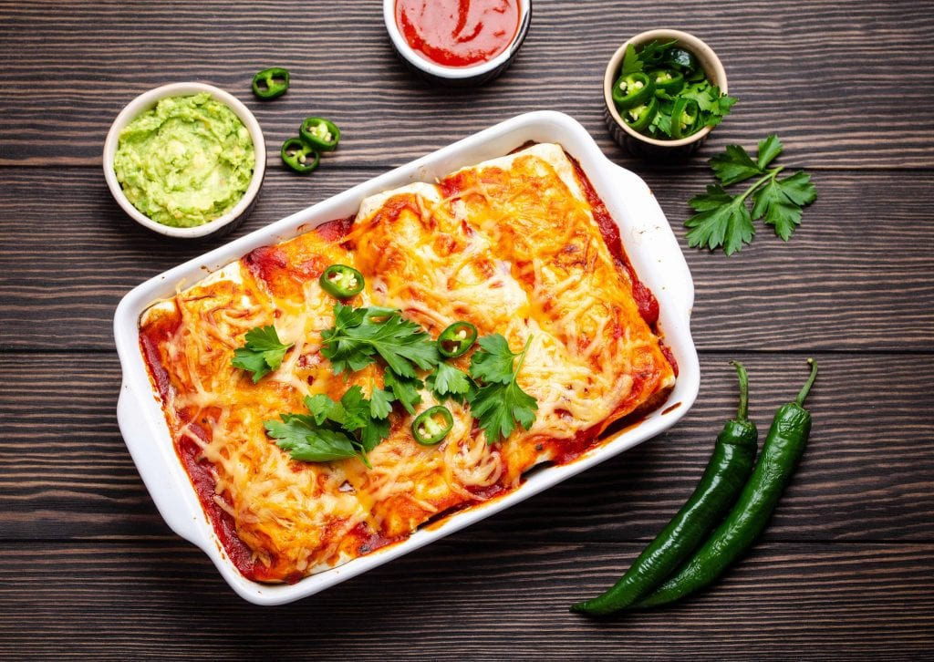 Chicken and Potato Enchilada Bake Recipe