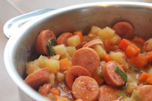 Chicken Cajun Smoked Sausage Stew Recipe
