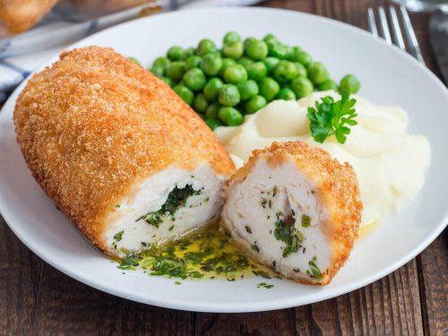 Chicken Kiev Recipe, stuffed russian chicken in creamy garlic butter